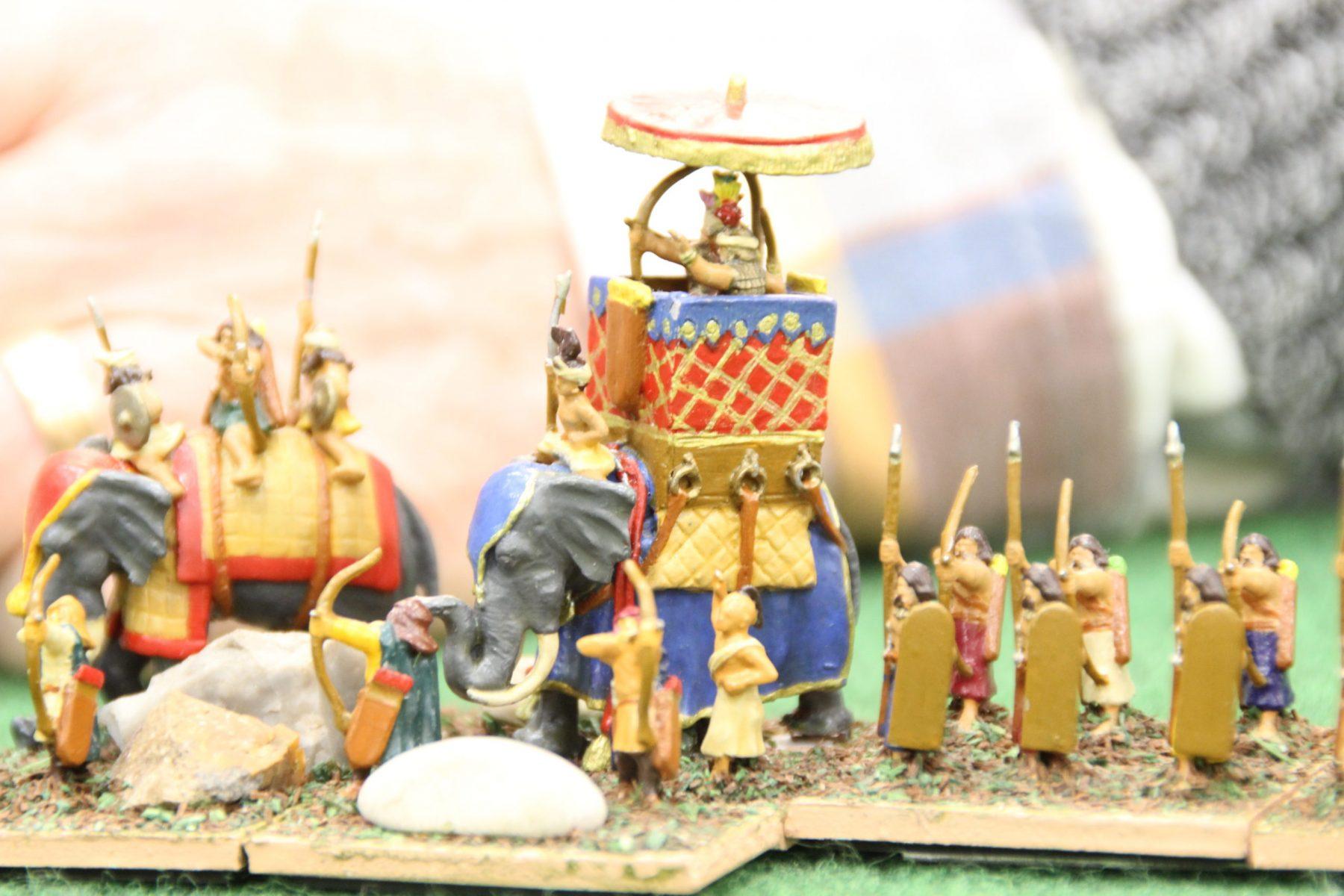 Le général en chef Indien sur son éléphant de combat.