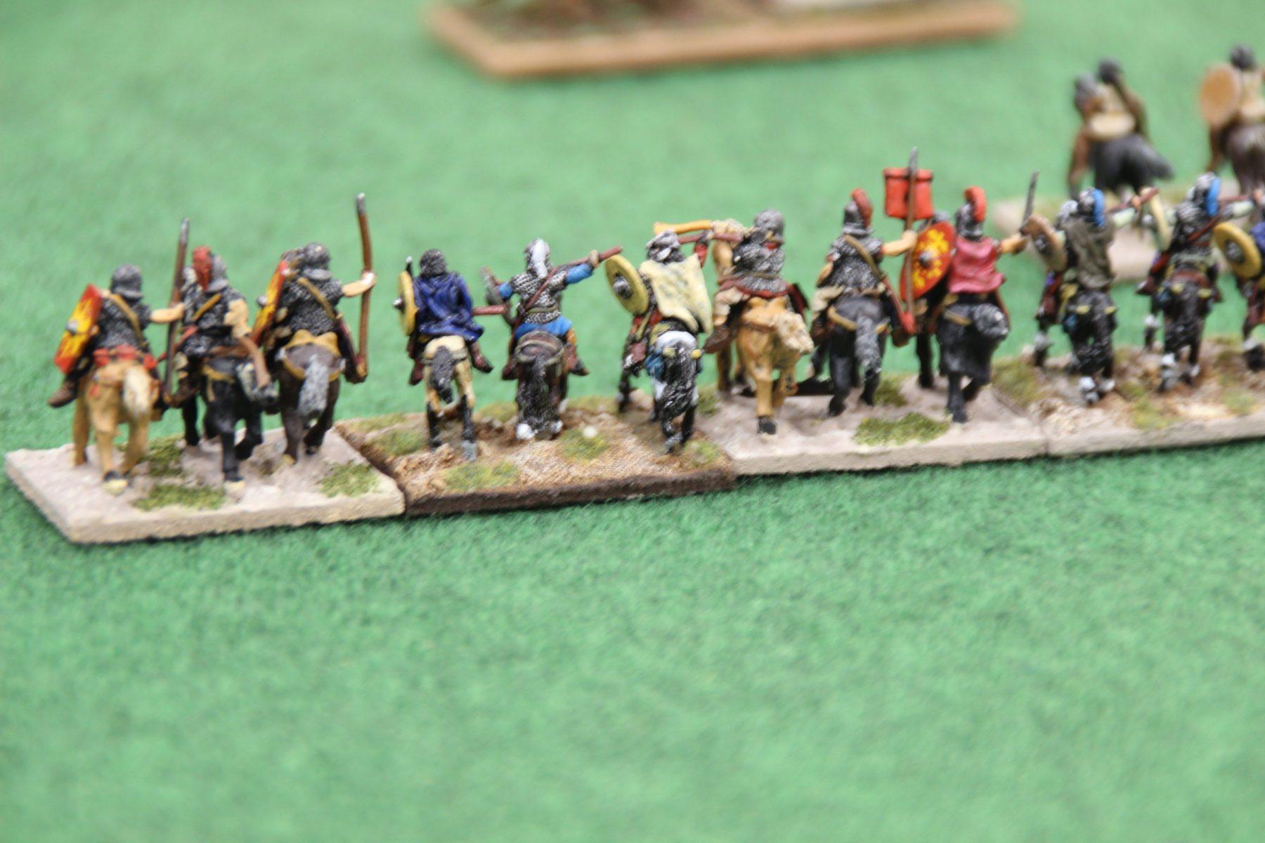 La cavalerie lourde romaine haut empire qui galope à sa perte face à de solides Guptas.