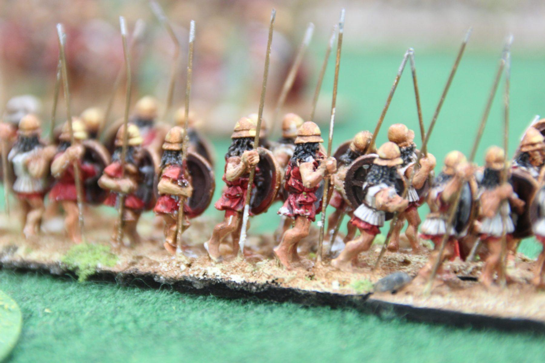 Infanterie Grecque classique en gros plan.