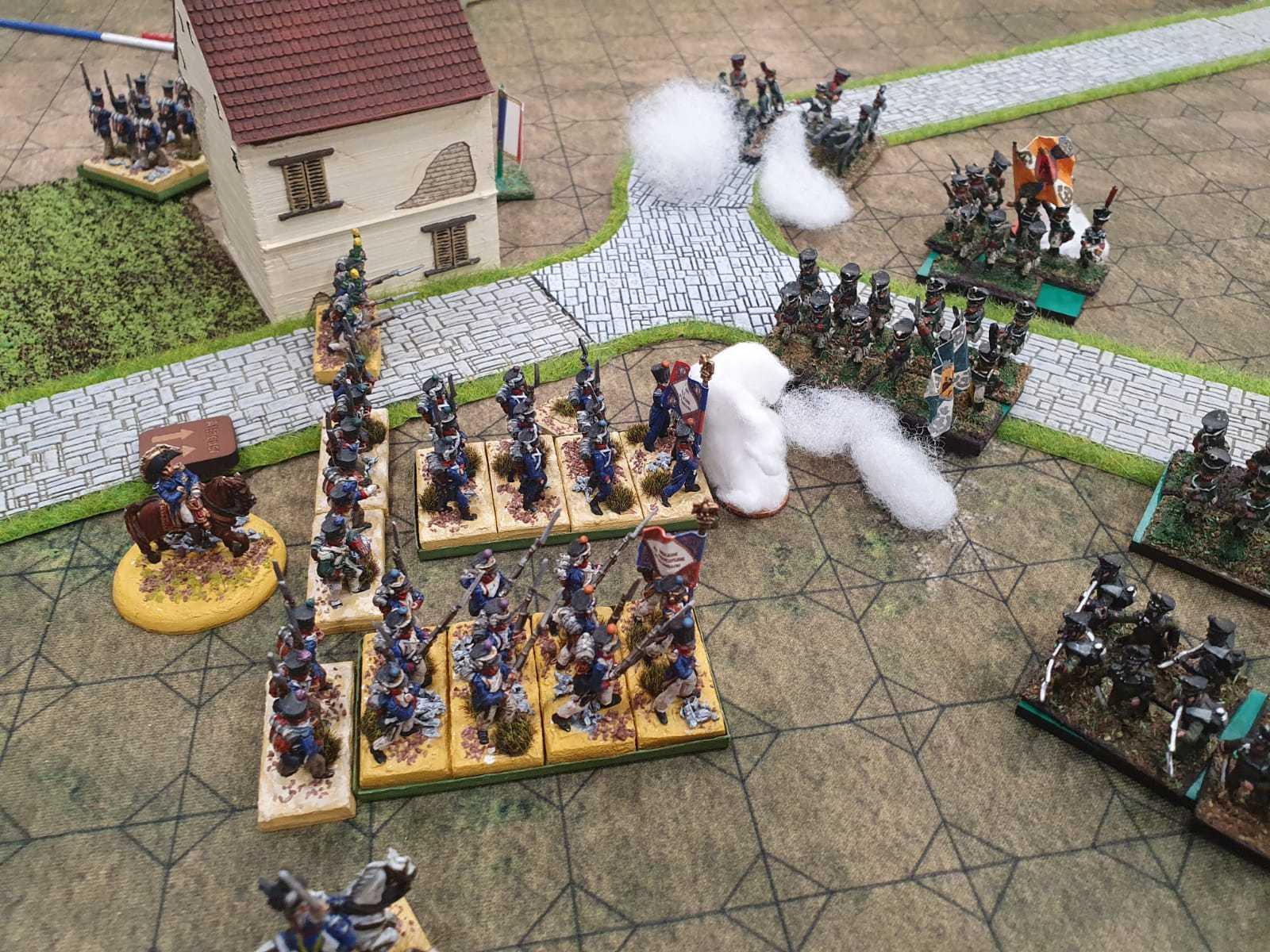 L'infanterie Française arrive au corps à corps avec son homologue Russe.