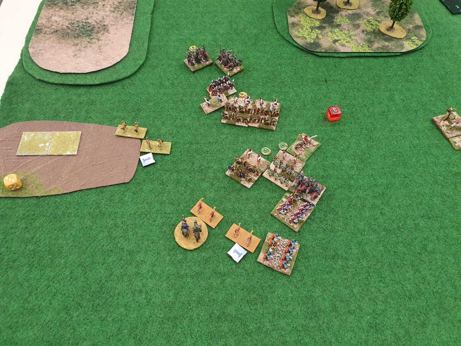 Un champ de bataille complexe opposant Romains Bas Empire aux Séleucides.
