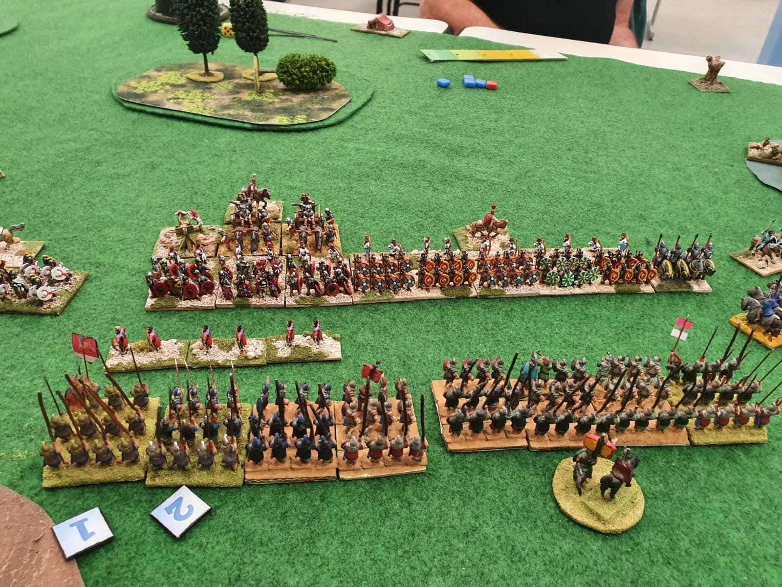 Un contact qui s'annonce violent entre les Phalanges Séleucides et la légion Romaine Bas Empire.