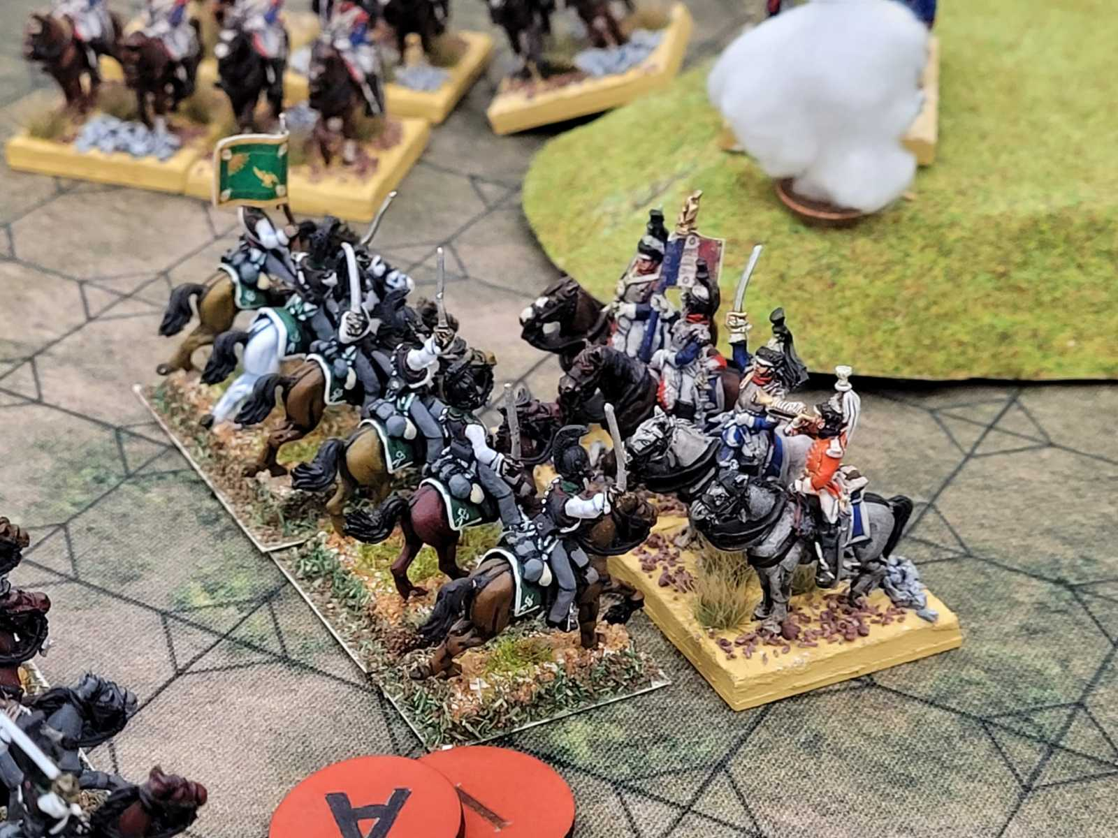 Duel de cavalerie en gros plan !
