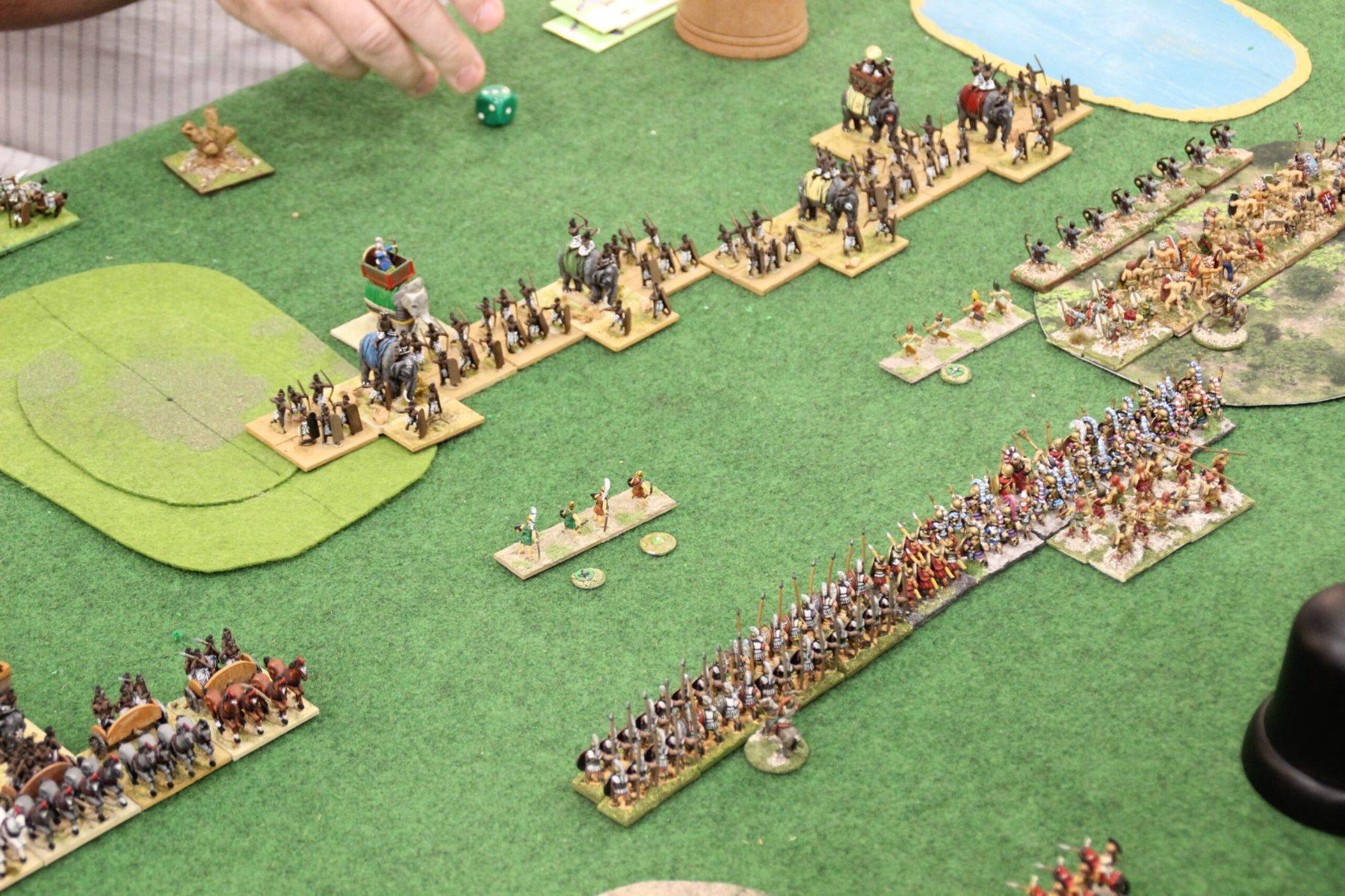 Vue aérienne du champ de bataille opposants les Indiens aux Spartiates