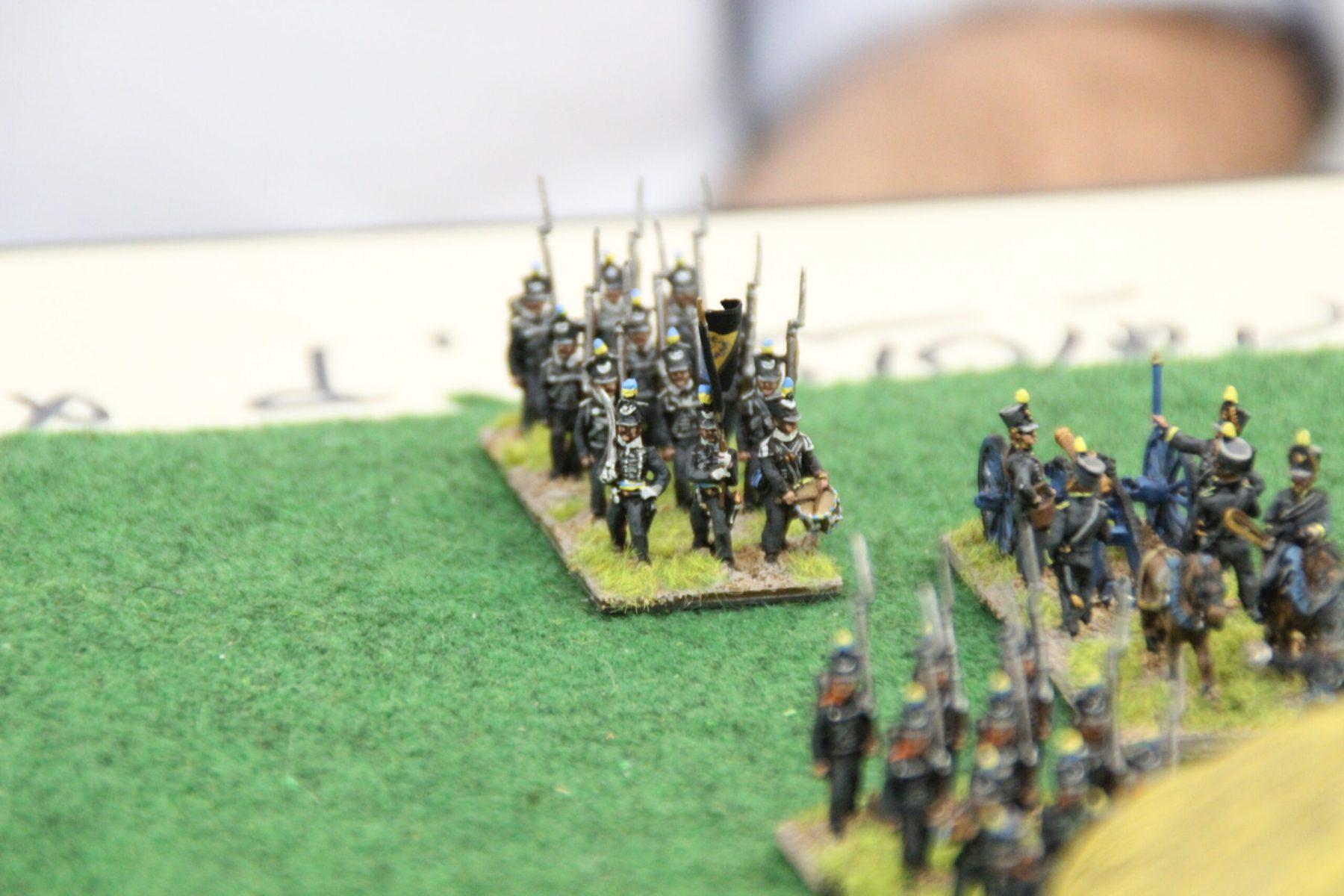 Infanterie de Brunswick dans le camps Anglais.