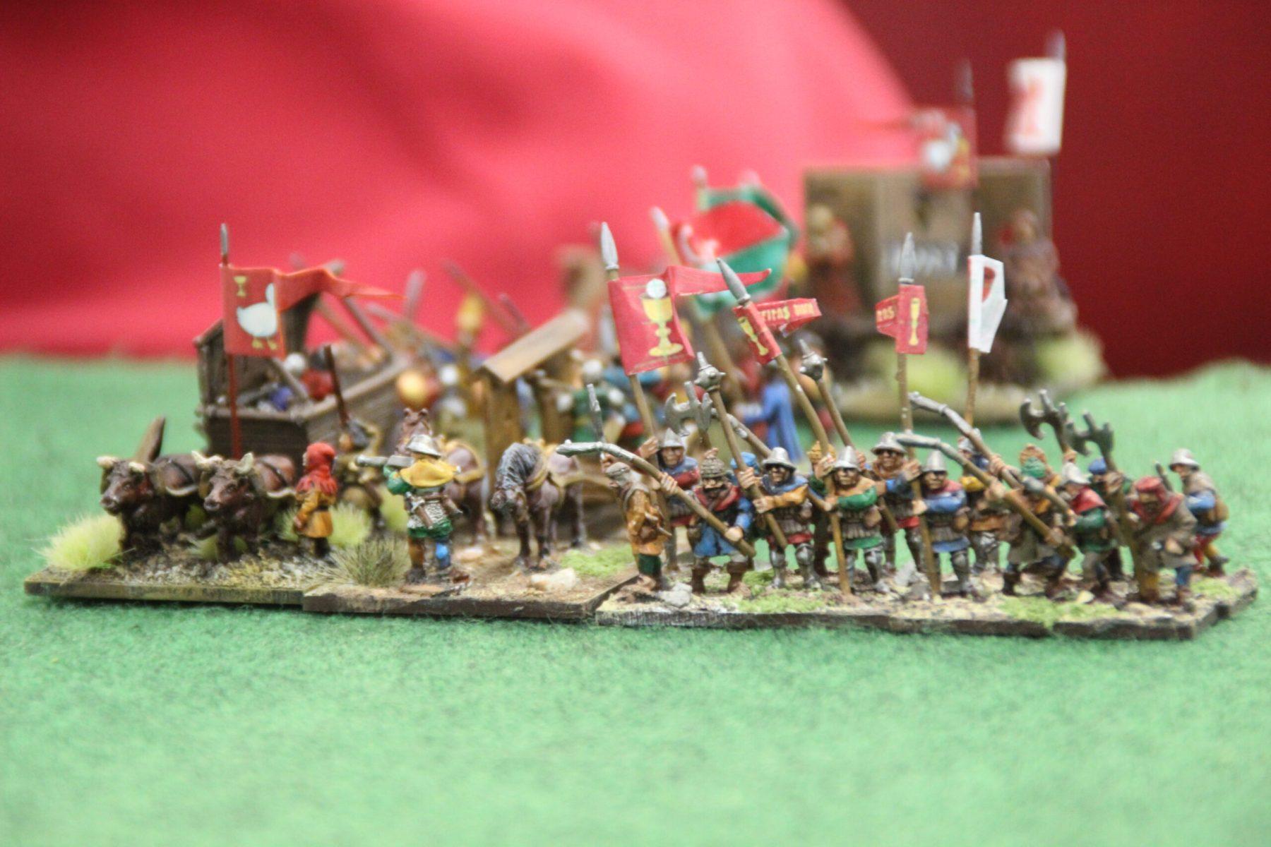 L'armée Hussite se prépare au combat.