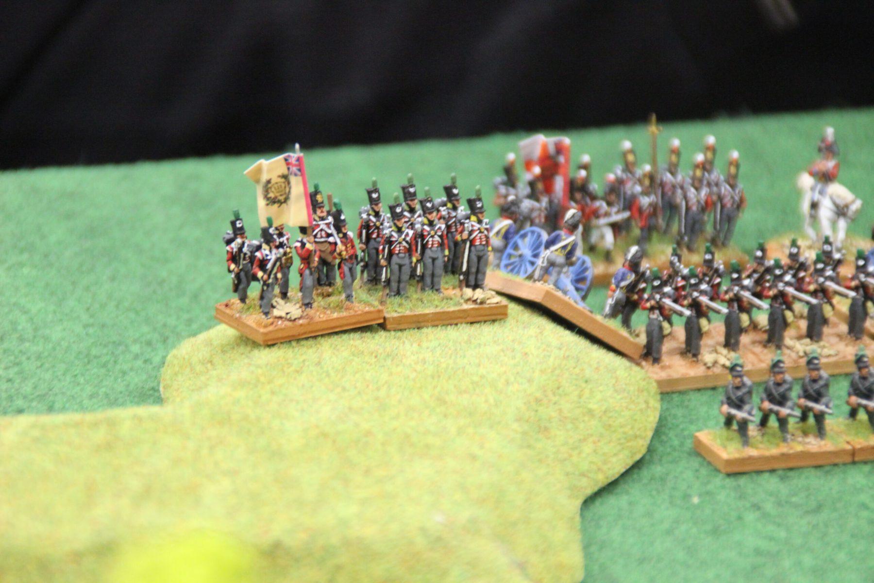 Les troupes Anglaises prennent position sur la colline.