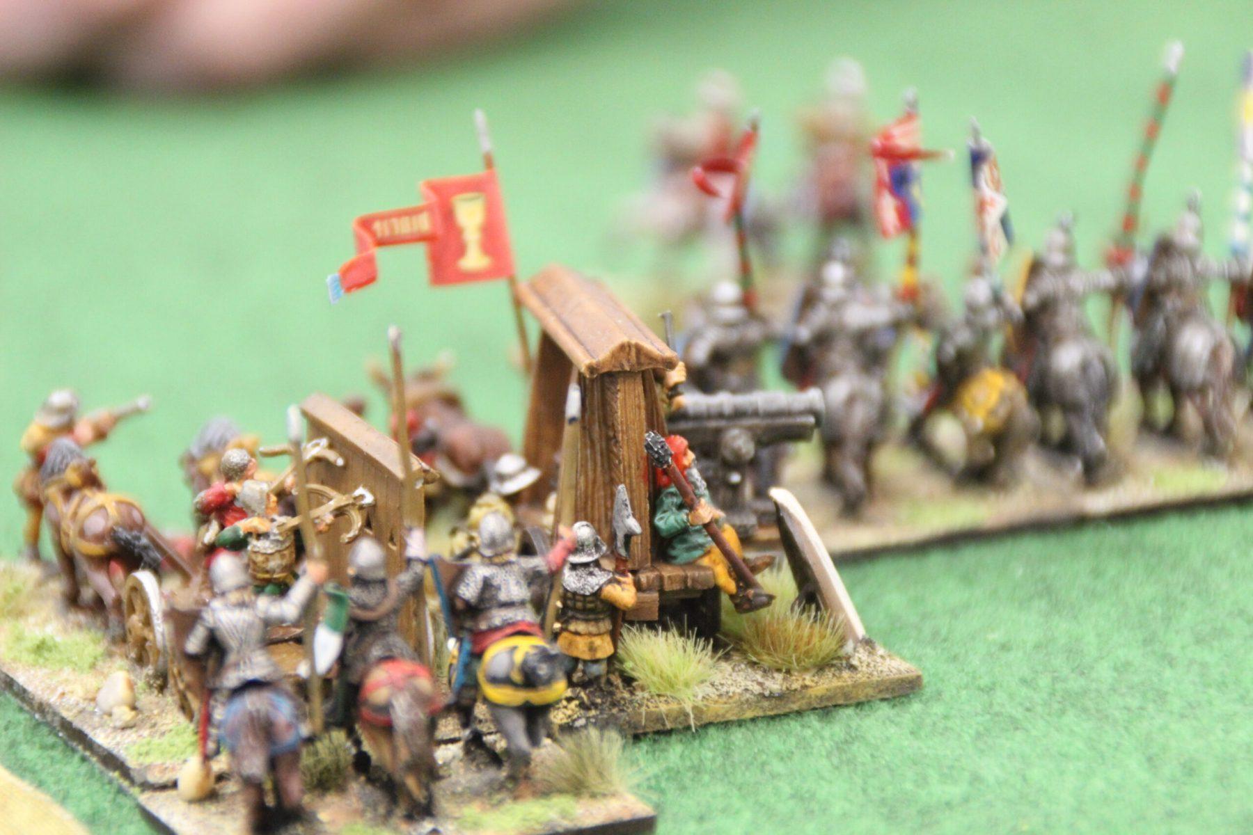 L'armée Hussite avance vers les Croisés Tardifs.