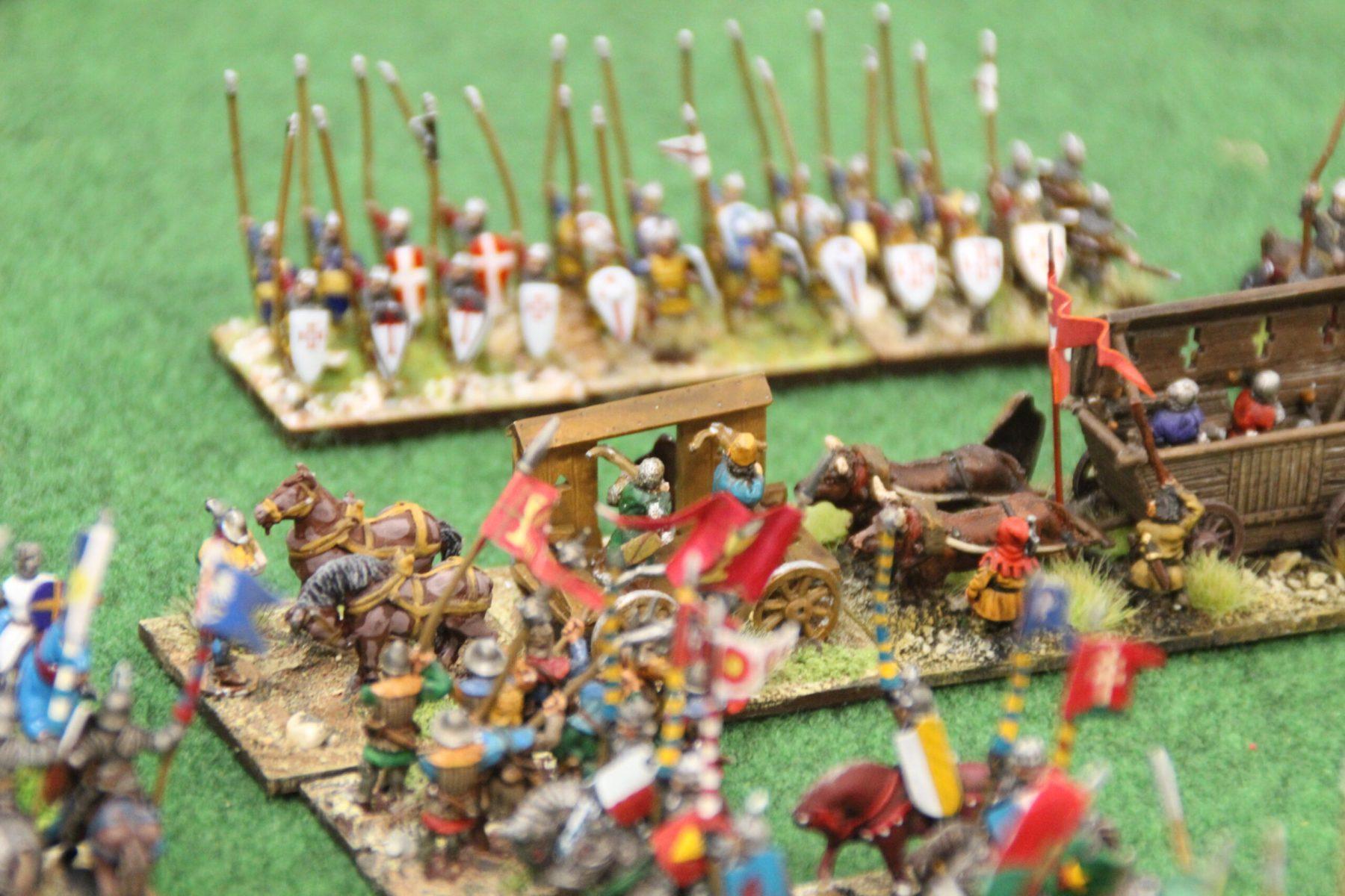 Les chariots Hussites forment un mur impénétrable pour les Croisés Tardifs.