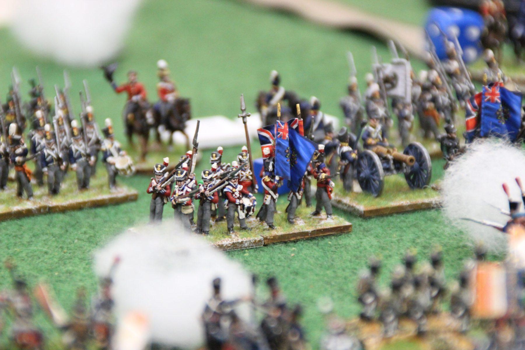 L'armée Anglaise se prépare au choc.