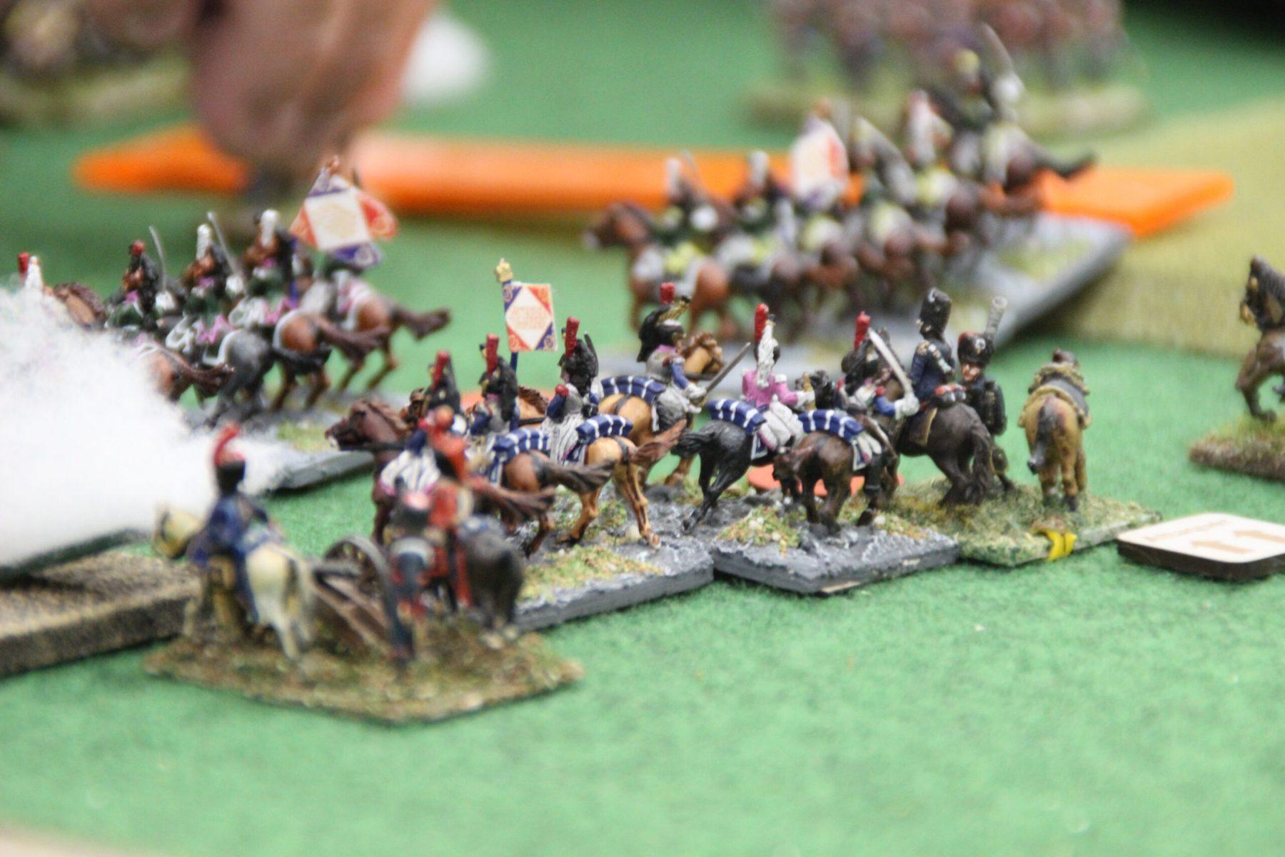 Cavalerie Française en formation d'attaque.