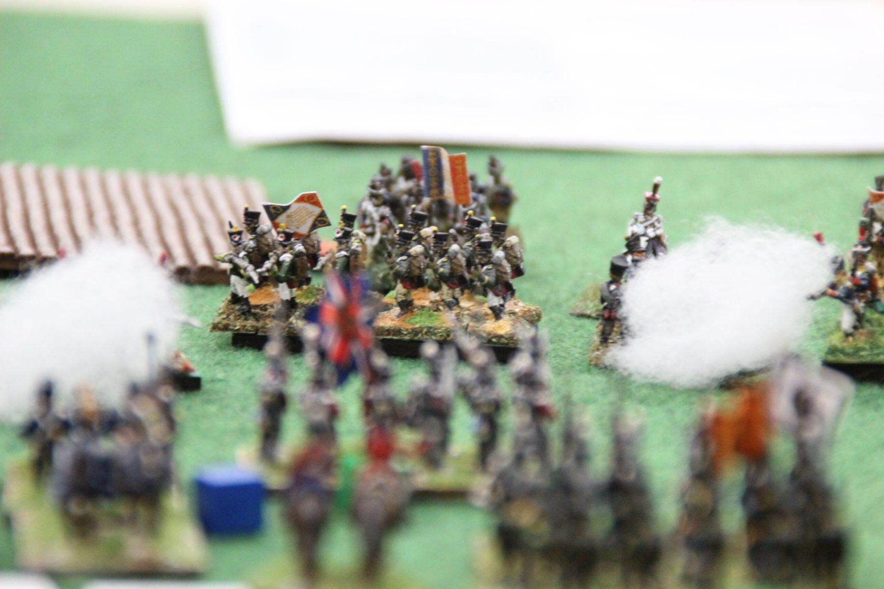 Troupes Française essuyant le feu Anglais.