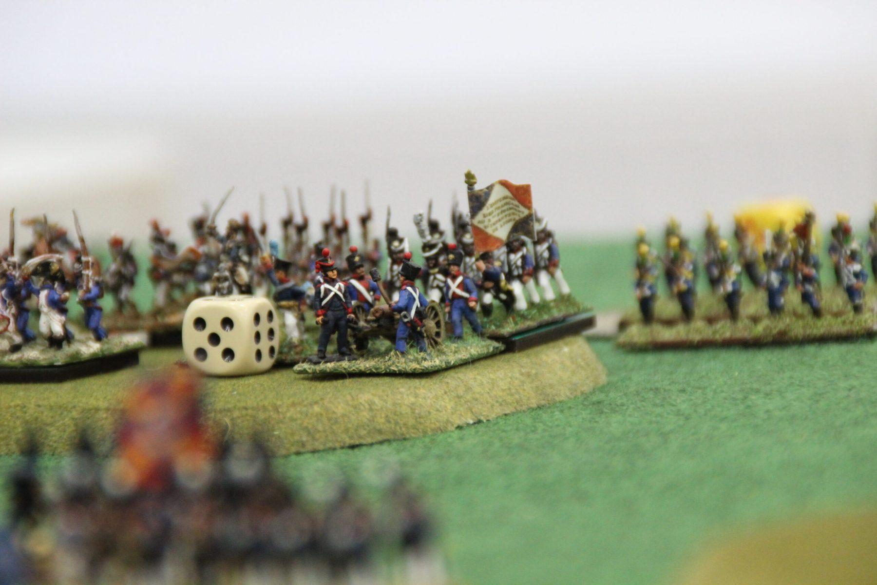 Une batterie d'artillerie Franco-Polonaise prête à faire feu.