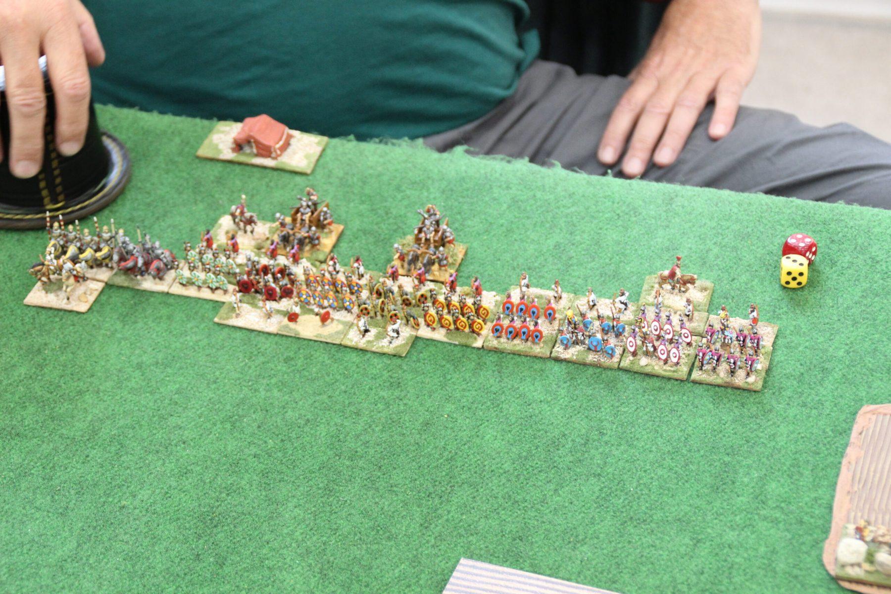 L'armée des Romains Bas-Empire complètement déployée.