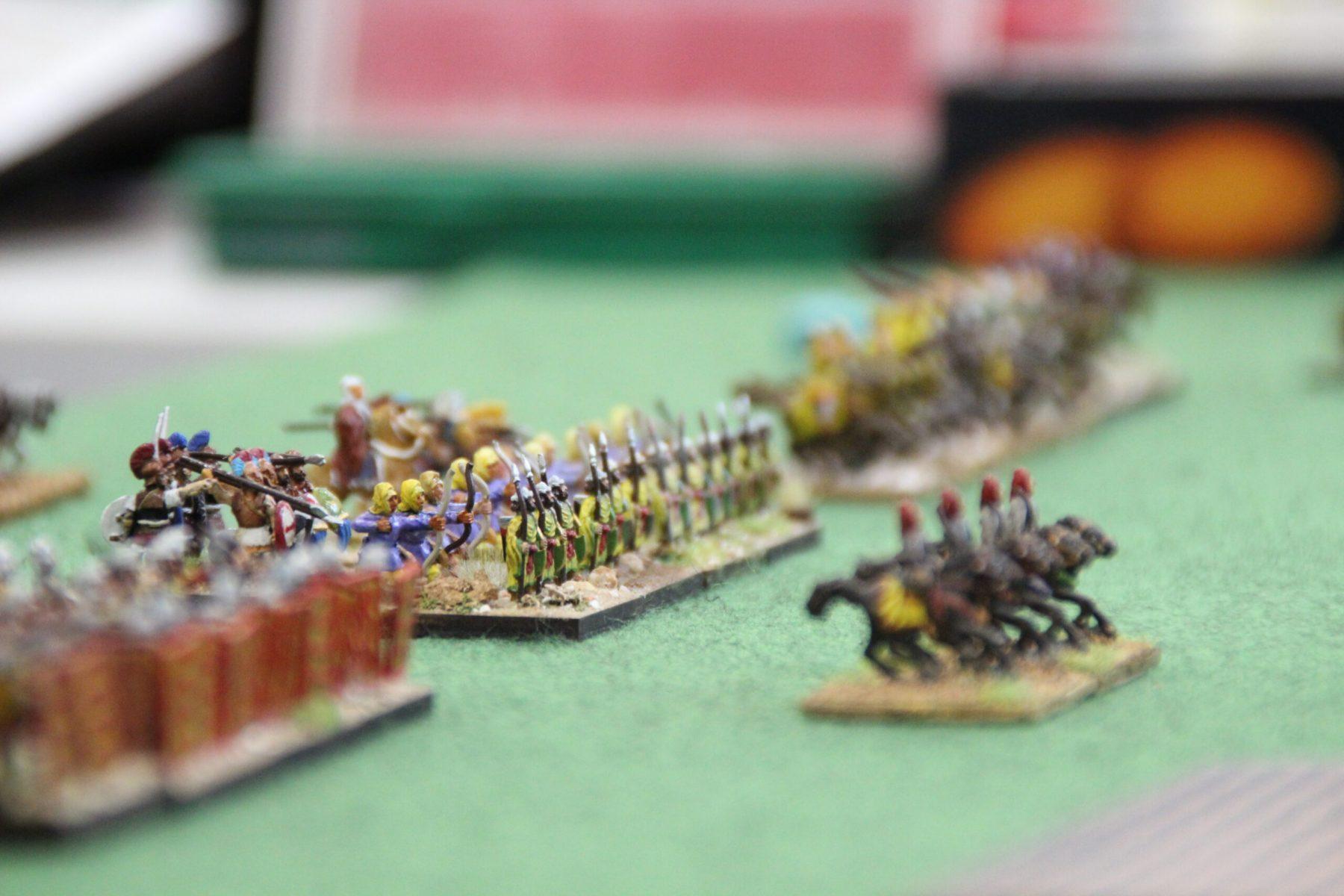 L'armée Perse Achéménide prend position.