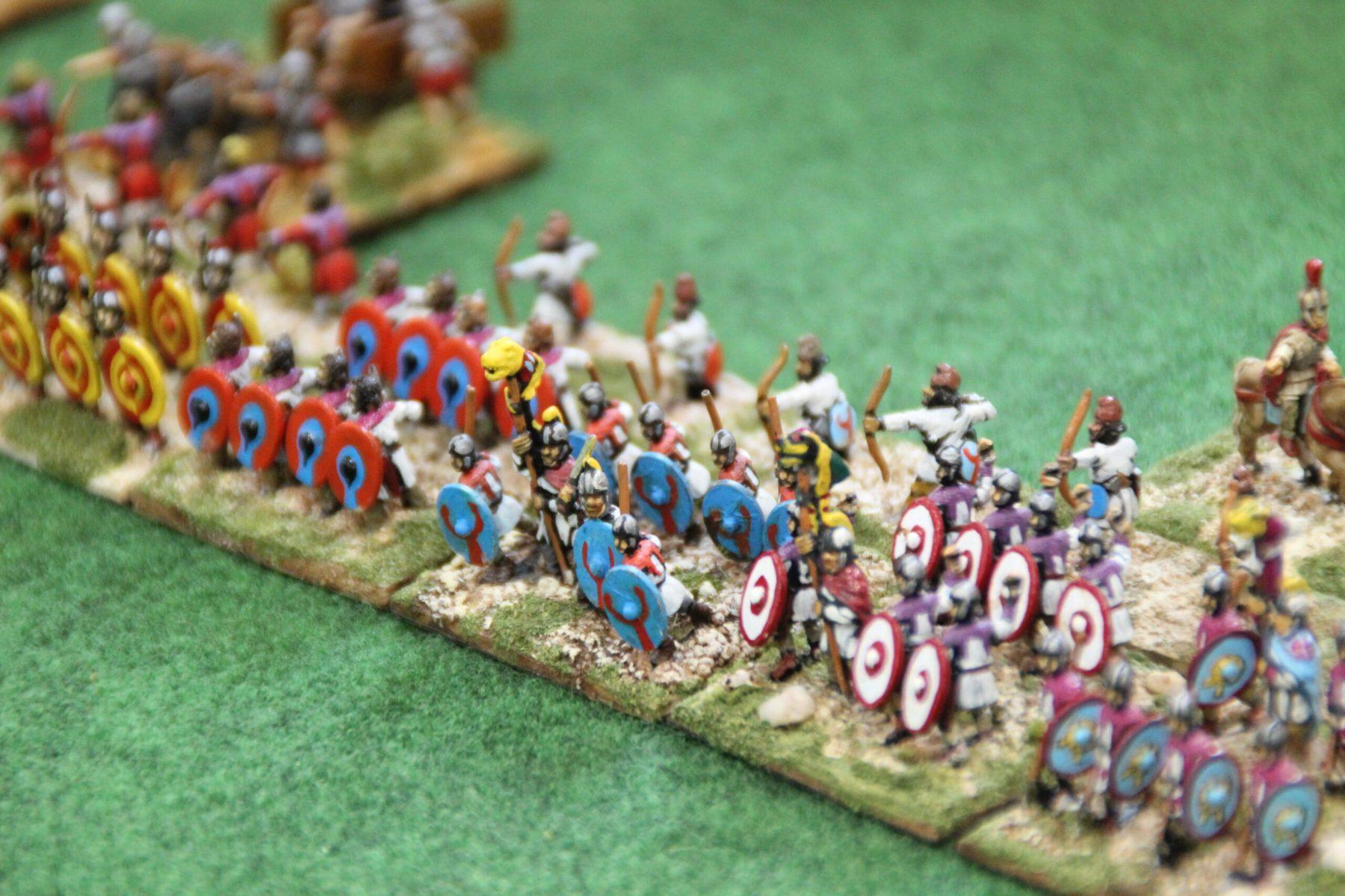 Des Auxiliaires Romains Bas-Empire très impatients d'en découdre.