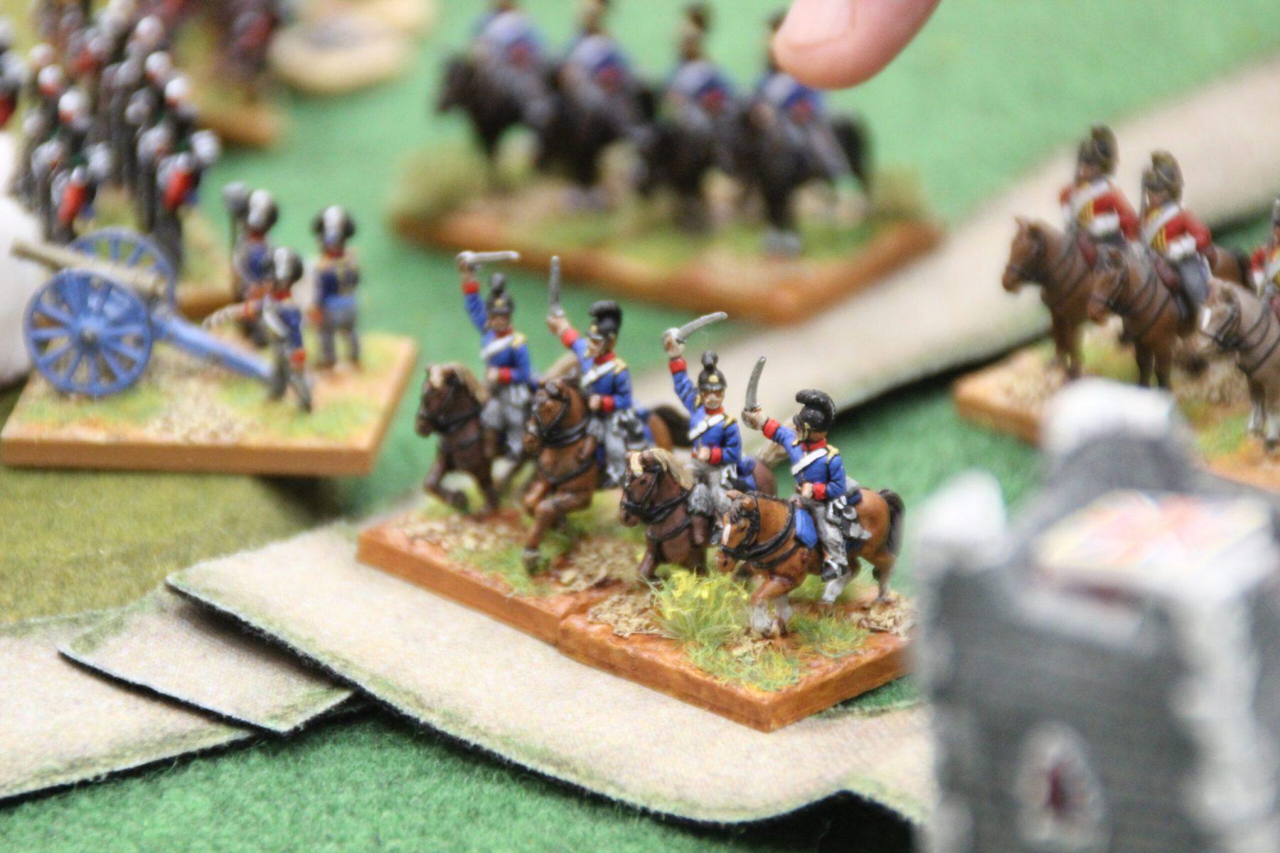 Une unité Anglaise sonne la charge.