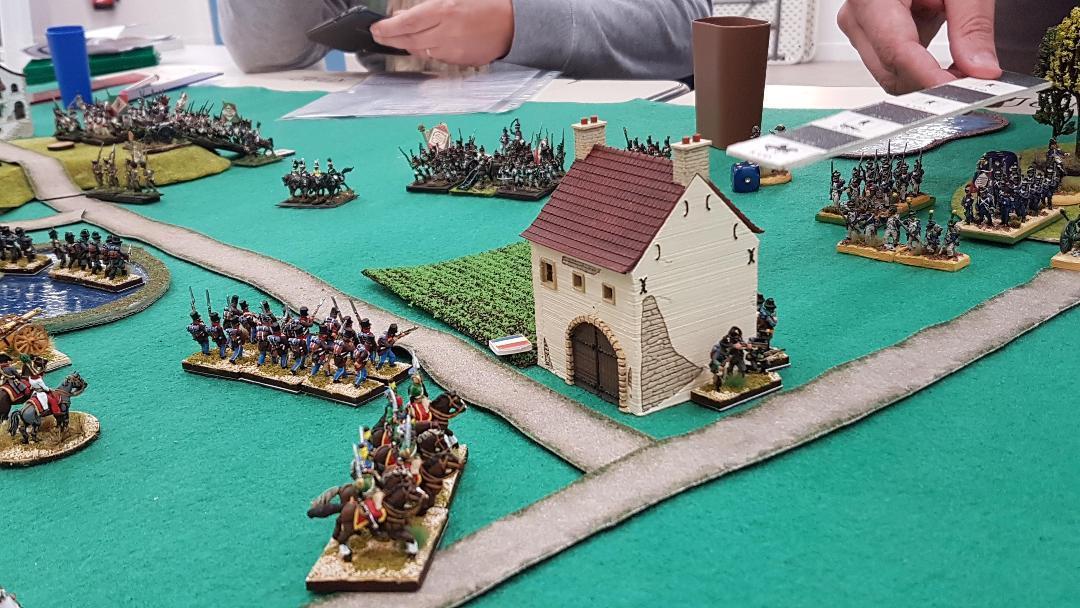 Les Autrichiens en défense.
