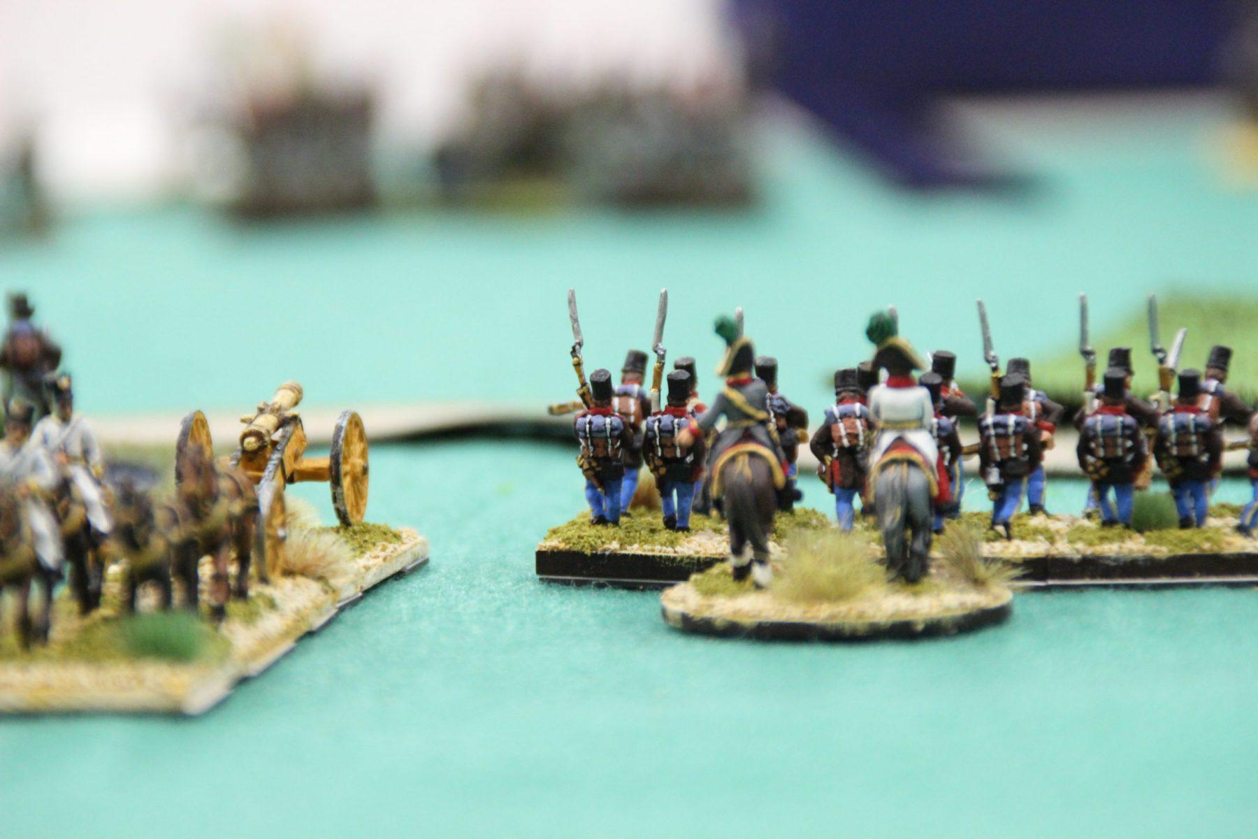 Les Français avancent en direction des Autrichiens.