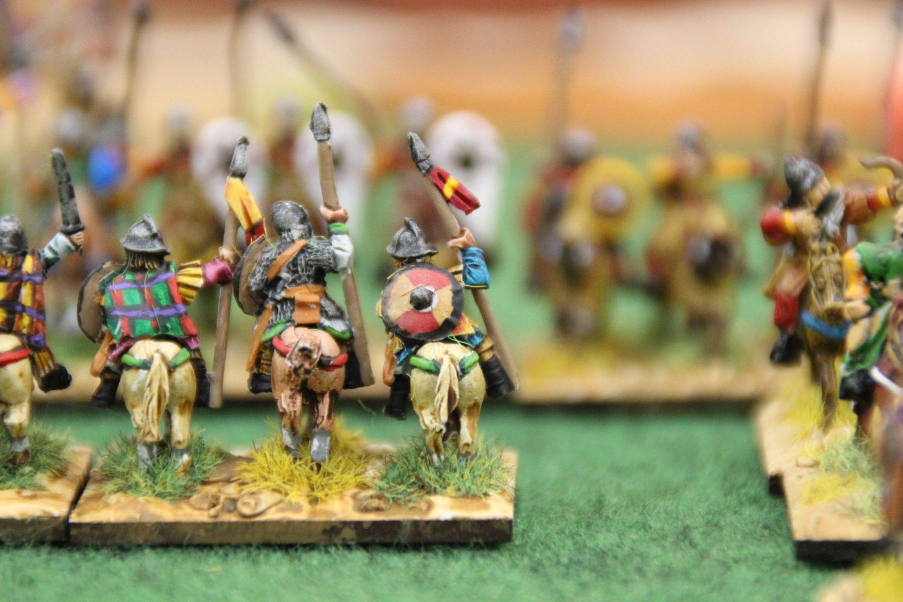 La cavalerie lourde des Francs est en difficulté face aux chevaliers Byzantins.