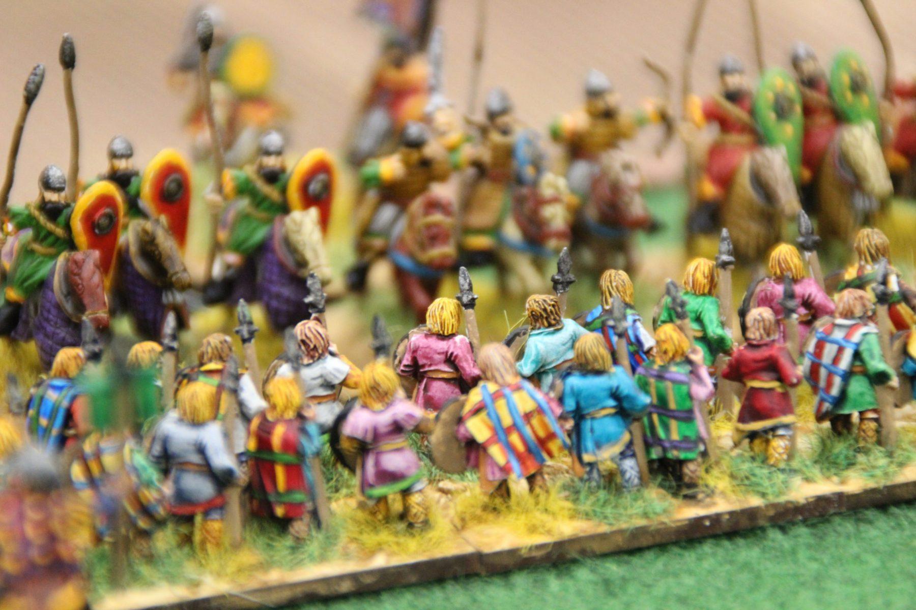 Les lanciers lourds Francs au contact avec les chevaliers Byzantins.