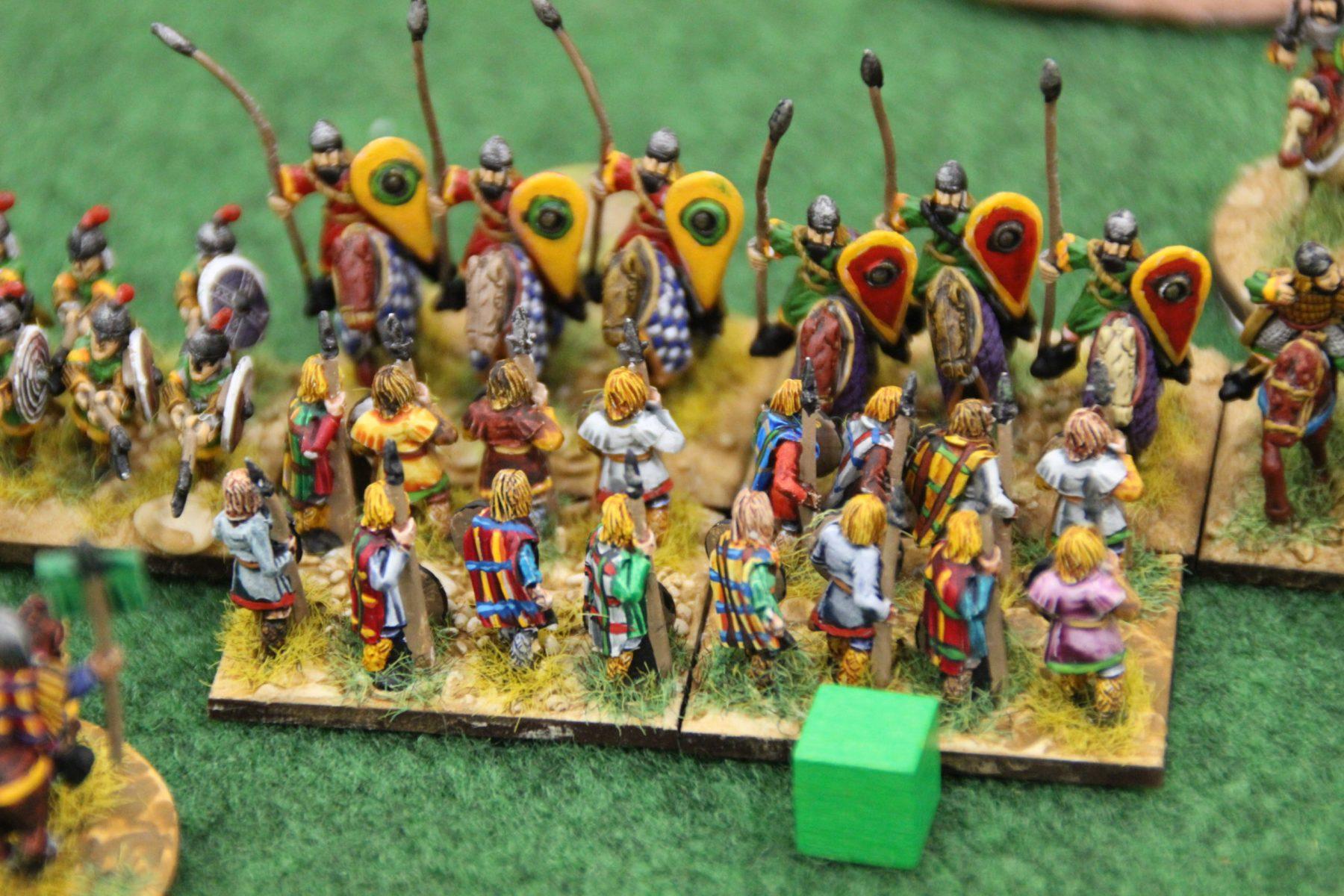 Malgré leur bravoure, les lanciers Francs sont balayés un à un par les chevaliers Byzantins.