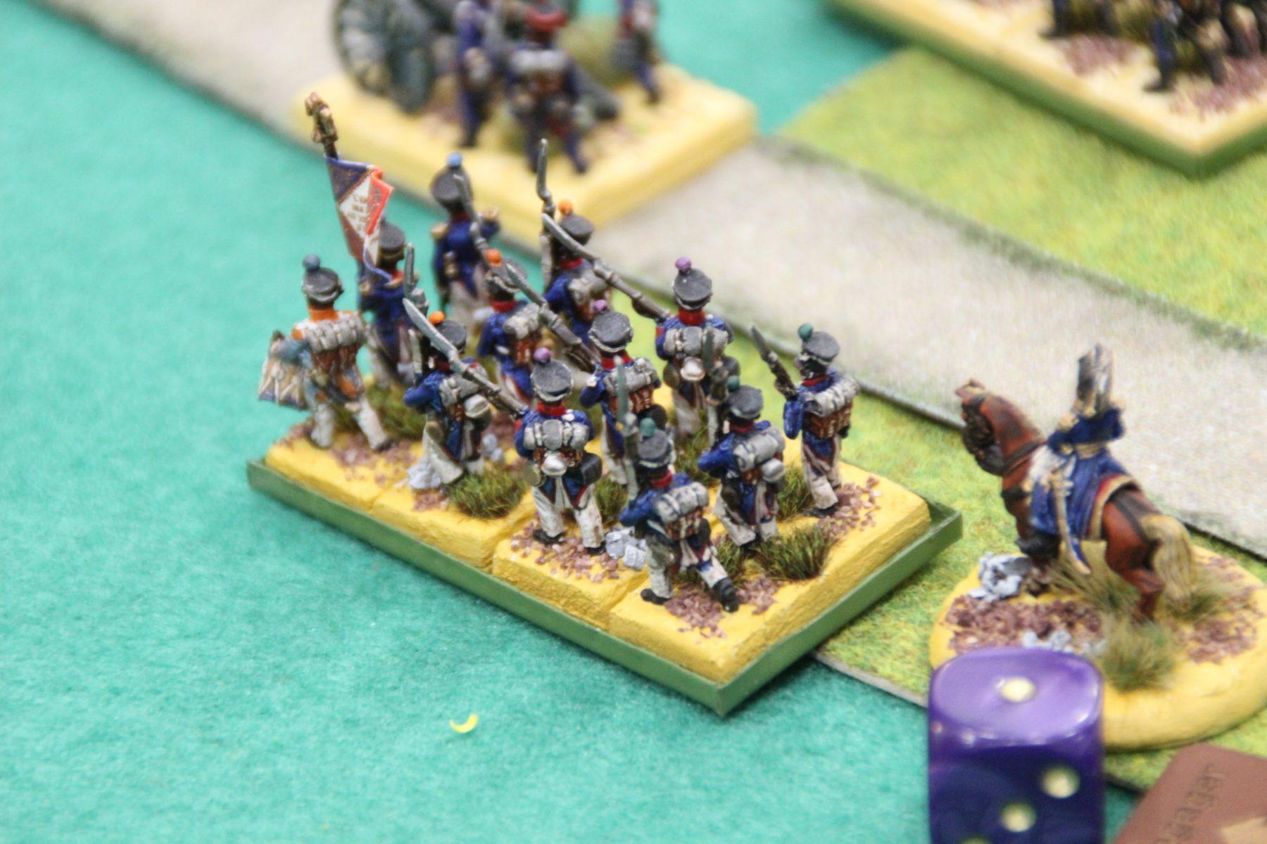 Une unité Française se jette dans la bataille.