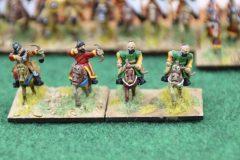 La cavalerie légère Byzantine ouvre la marche.