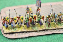 Les chevaliers Byzantins peinent à traverser la plantation...
