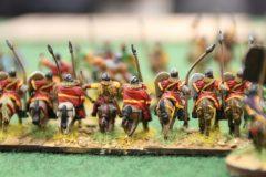 Chevaliers Byzantins attaquant une unité de cavalerie des Francs.